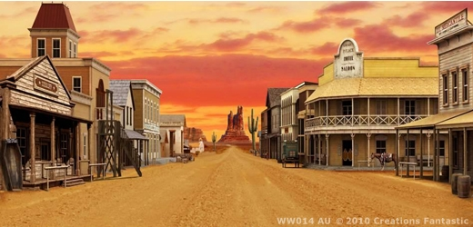 Wild West Town 2  Western Town Backdrop