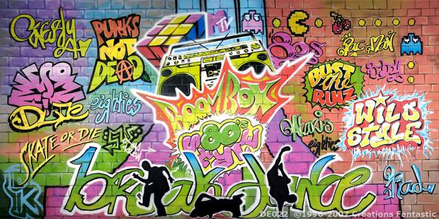 1980's Graffiti Backdrop