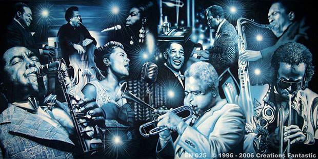 Jazz Greats Evnt backdrop
