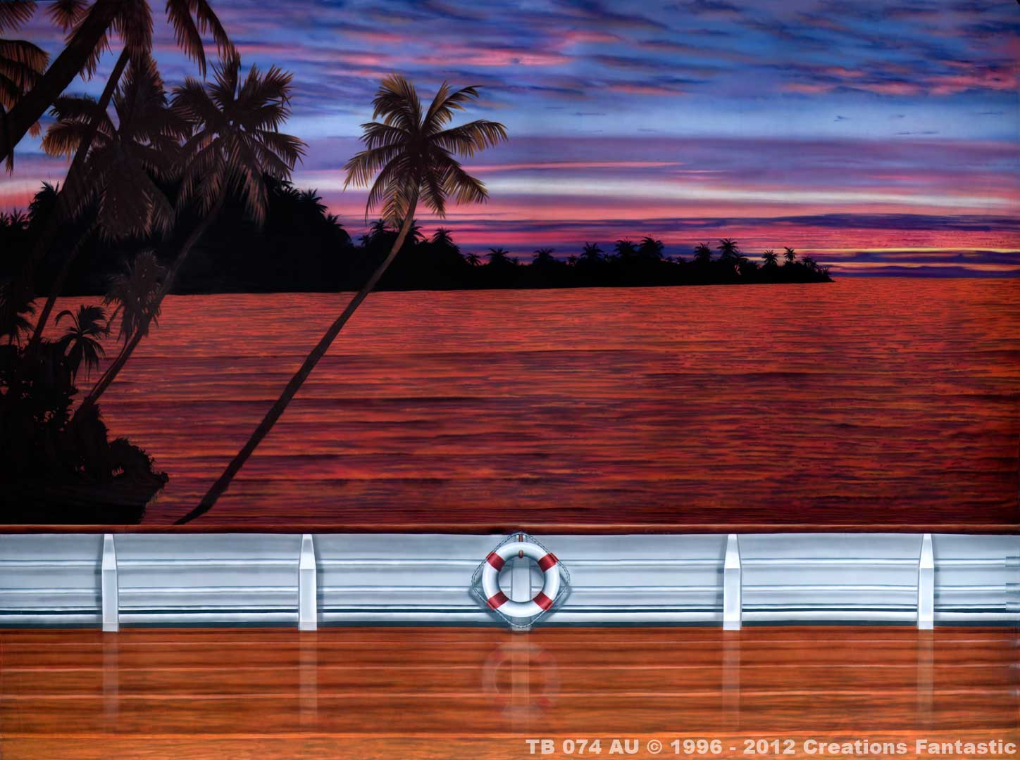 Tropical Sunset Cruise backdrop image
