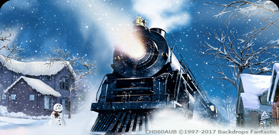 Polar Express Party Backdrop Backdrops Fantastic Australia