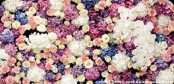 Spring Florals 2 Flower Party Backdrop