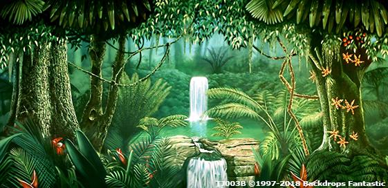 Tropical Jungle Party Backdrop