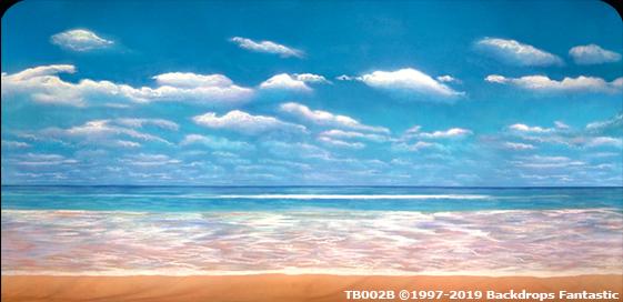 Tropical Beach 2B Party Backdrop