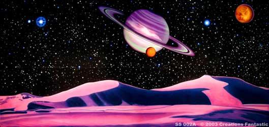 Pink Planet 1 Backdrop