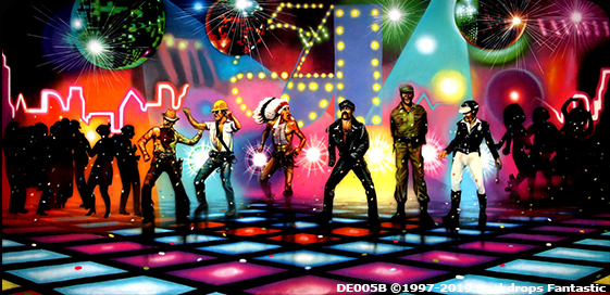 Disco 3B Party Backdrop